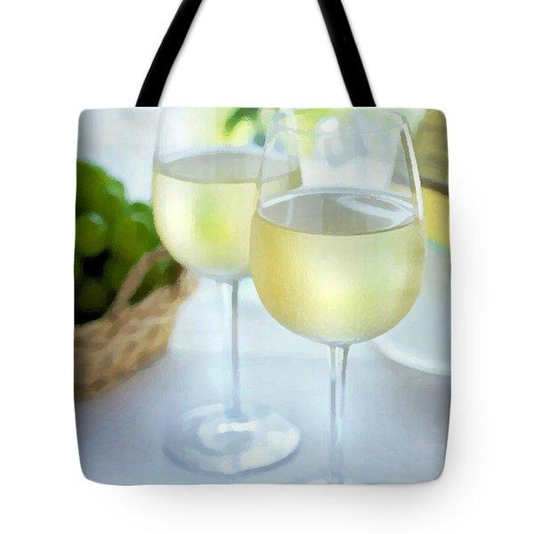 Crisp Whites Tote Bag by Elaine Plesser