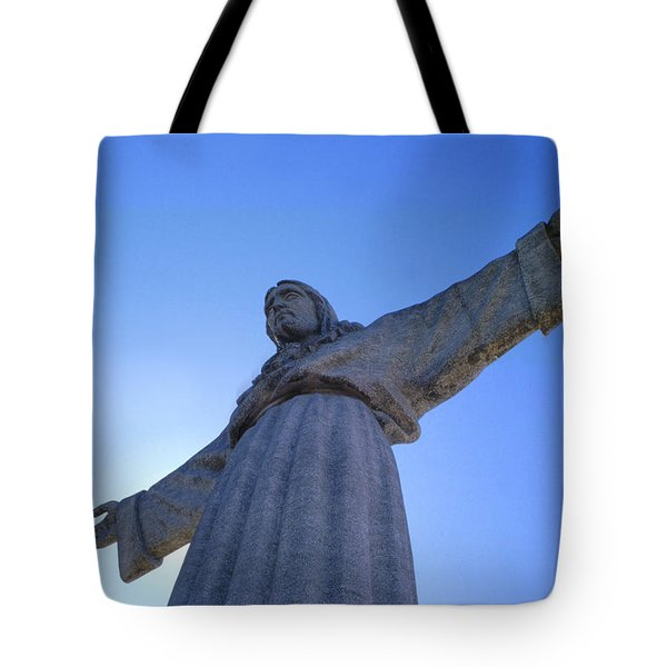 Cristo Rei Tote Bag by Anonymous
