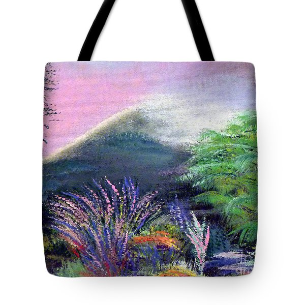 Tote Bag featuring the painting Croagh Patrick by Alys Caviness-Gober