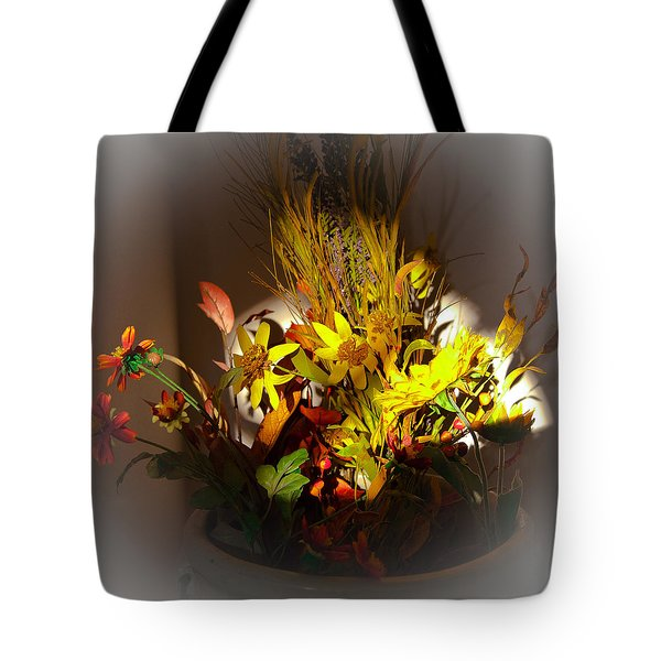 Crock Pot Full Of Flowers Tote Bag
