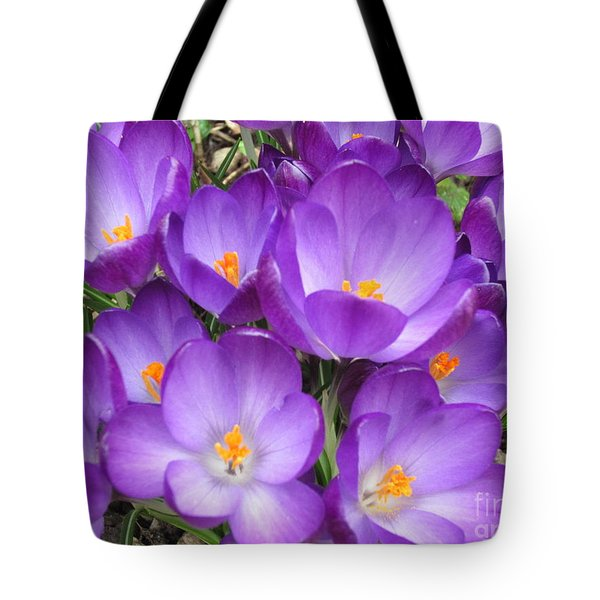 Crocus Tote Bag by Laurianna Taylor