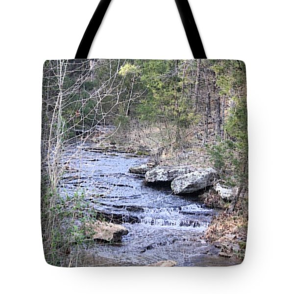 Tote Bag featuring the photograph Crooked Creek by Donna G Smith