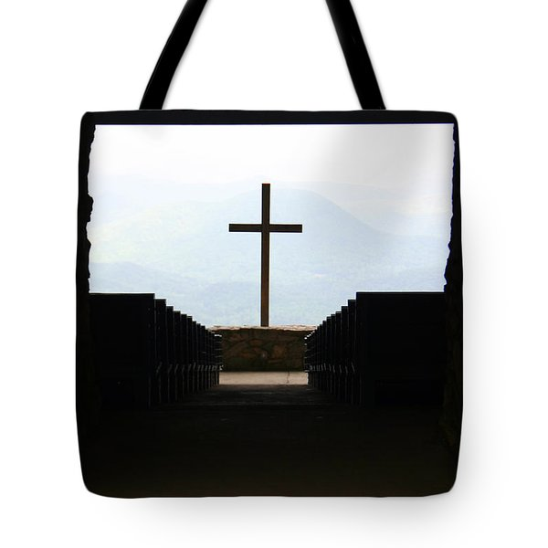 Tote Bag featuring the photograph Cross 1 by Kelly Hazel