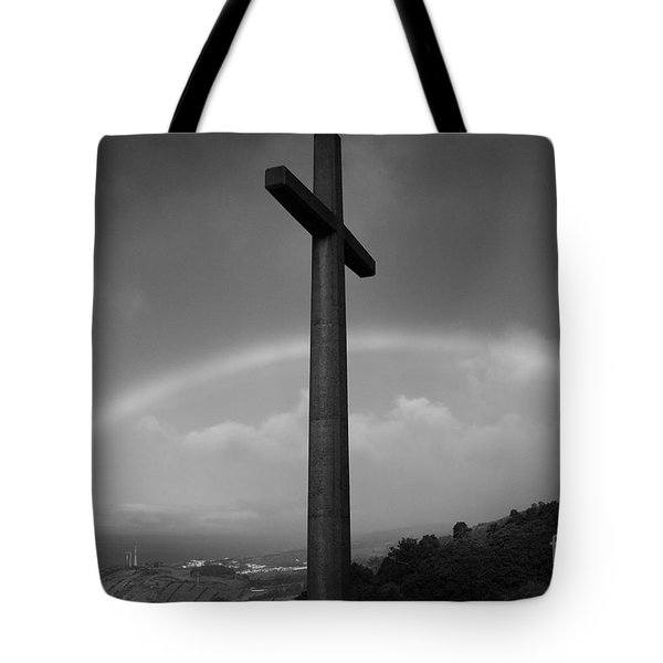 Cross And Rainbow Tote Bag by Gaspar Avila