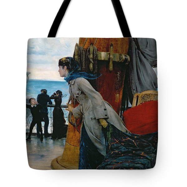 Cross Atlantic Voyage Tote Bag