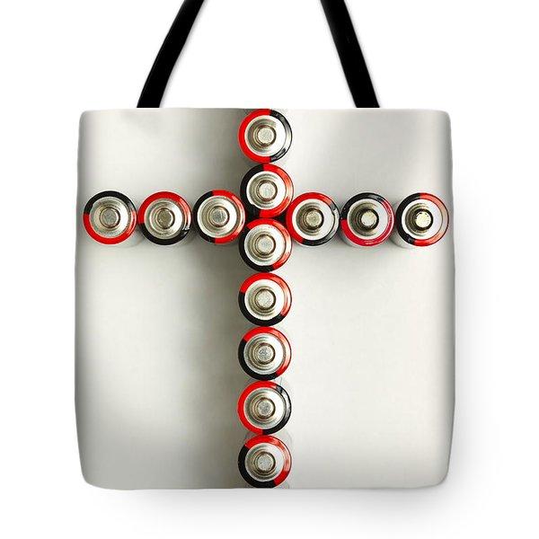 Cross Batteries 1 A Tote Bag by John Brueske