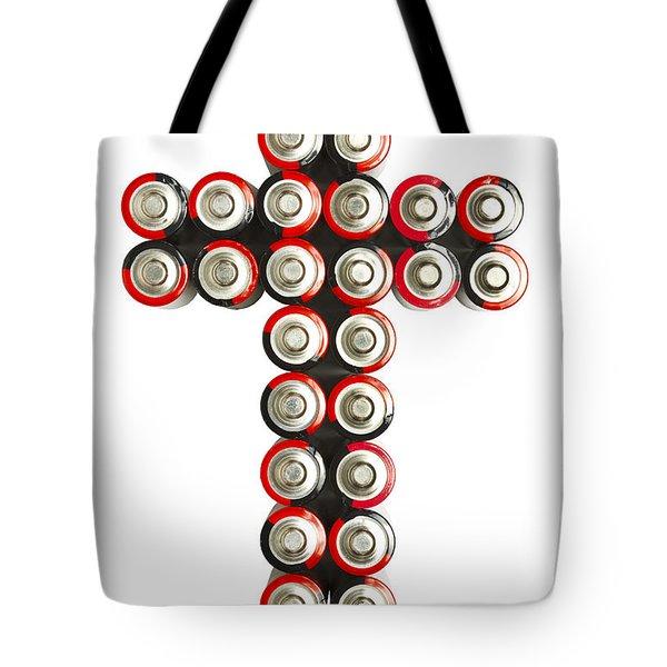 Cross Batteries 2 Tote Bag by John Brueske