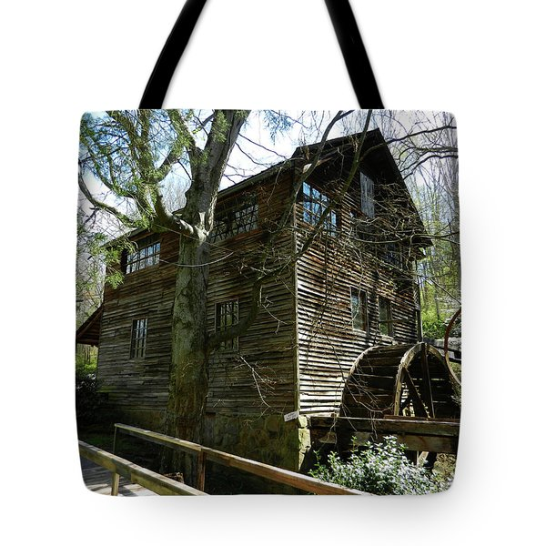 Tote Bag featuring the photograph Cross Eyed Cricket Grist Mill by Paul Mashburn