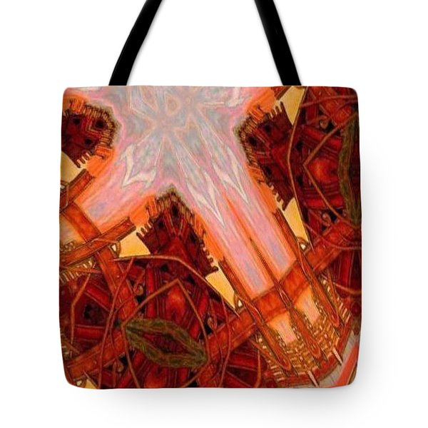Cross Nine Eleven Aftershock  Tote Bag