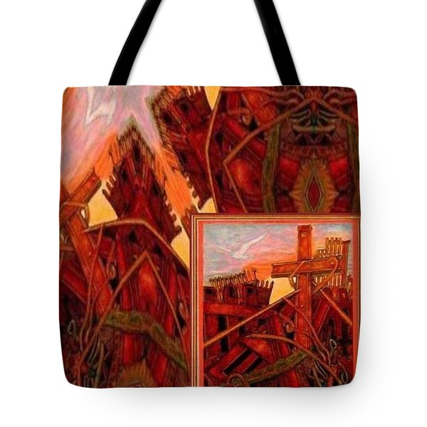 Cross Nine Eleven Tangle Of Terror Tote Bag