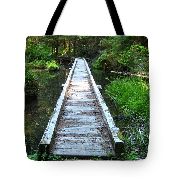 Crossing Over Tote Bag by Kathy Bassett