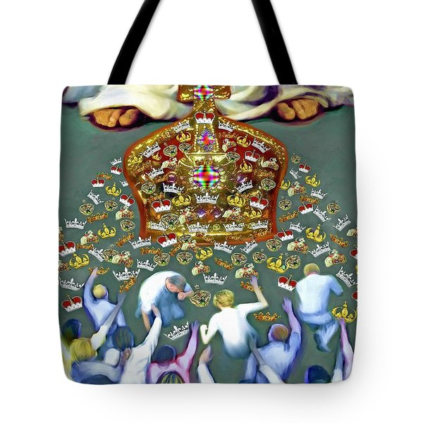 Crowns At His Feet Tote Bag by Susanna  Katherine