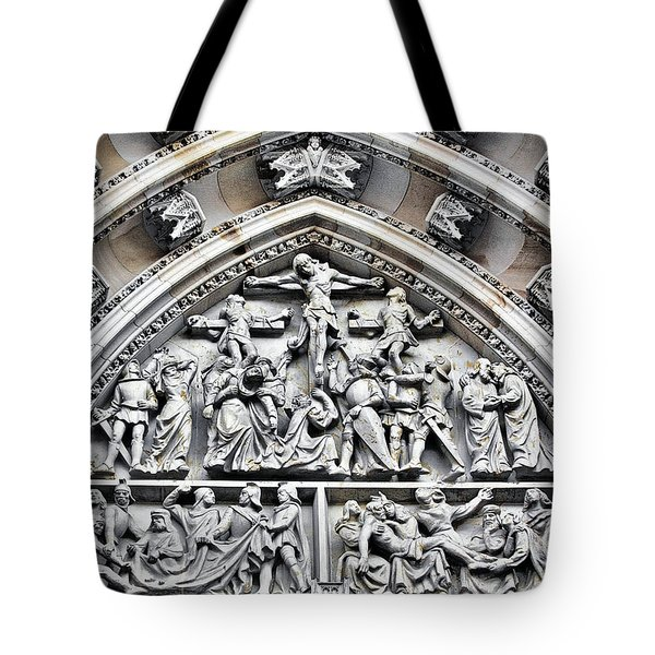 Crucified Christ - Saint Vitus Cathedral Prague Castle Tote Bag by Christine Till