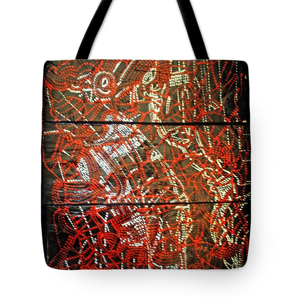 Crucifixion - Tile Tote Bag by Gloria Ssali