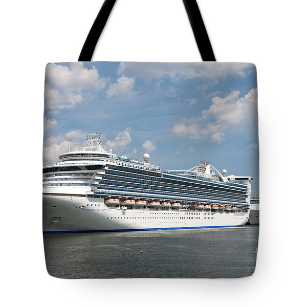 Cruise Ships At Cruiseport Boston Tote Bag by Clarence Holmes