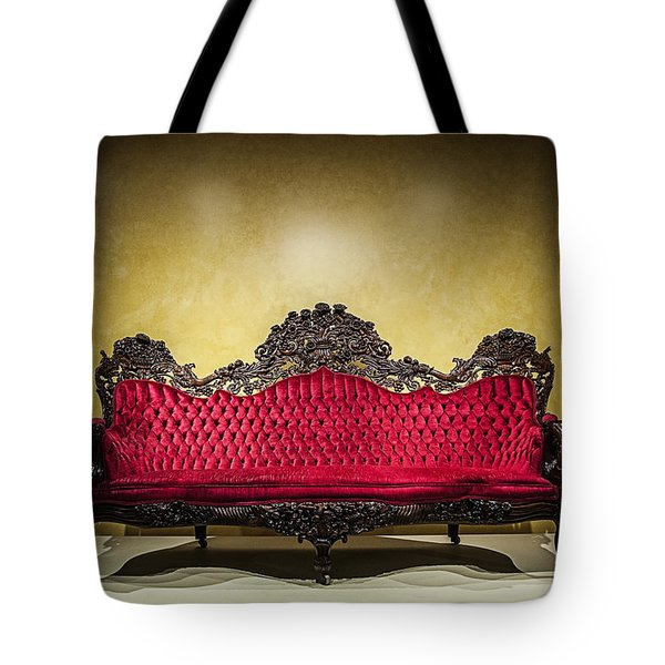 Crushed In Red Tote Bag by CJ Schmit