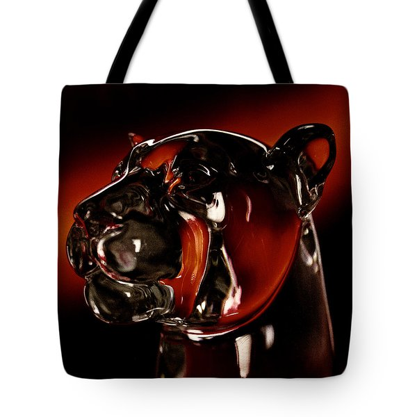 Crystal Cougar Head II Tote Bag by David Patterson
