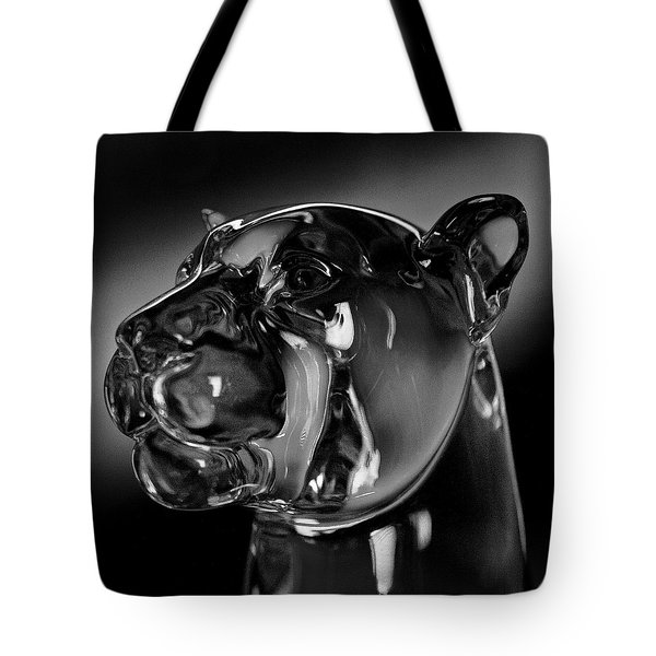 Crystal Cougar Head IIi Tote Bag by David Patterson