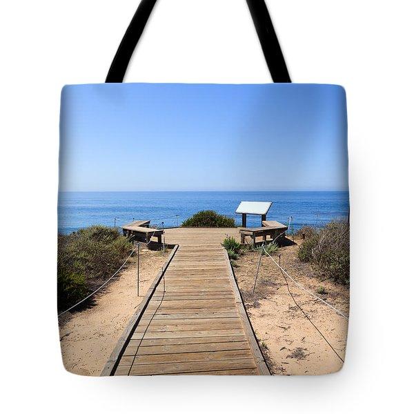 Crystal Cove State Park Ocean Overlook Tote Bag by Paul Velgos