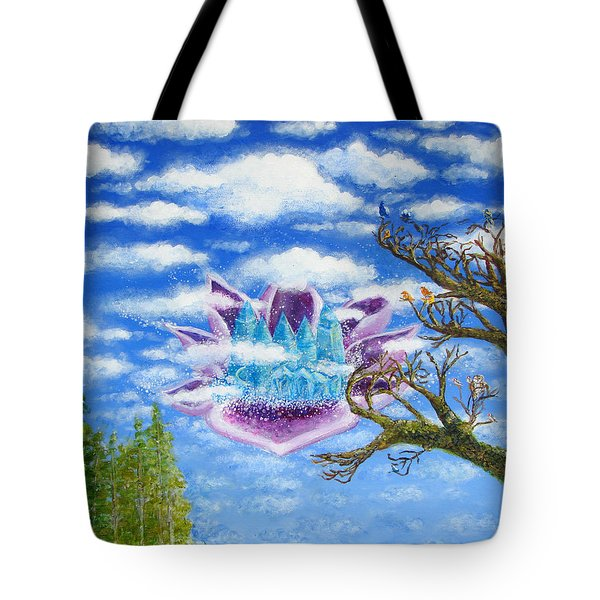Crystal Hermitage Castle In The Clouds Tote Bag by Ashleigh Dyan Bayer