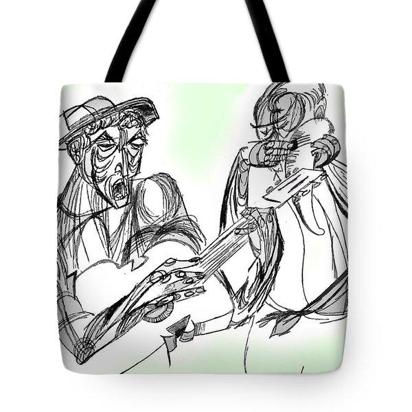 Cuatro Y Guicharo Tote Bag by Nora Martinez