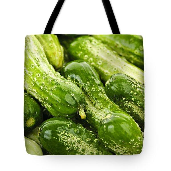 Cucumbers  Tote Bag by Elena Elisseeva