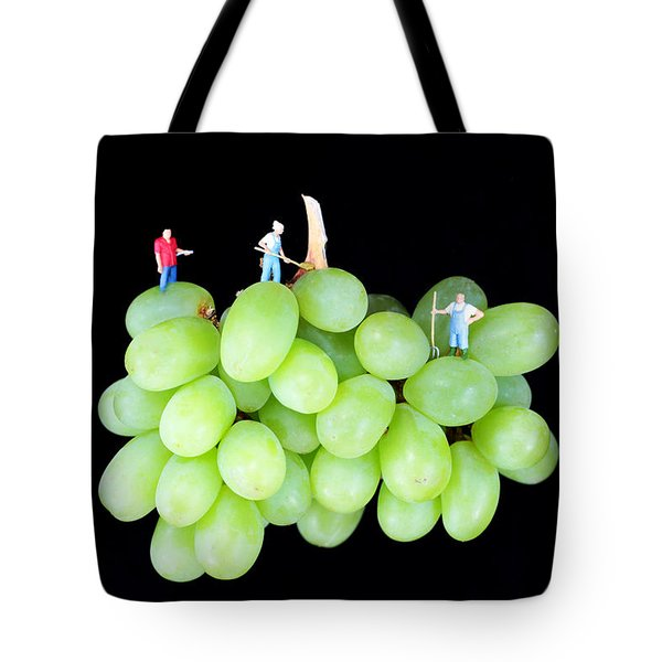 Cultivation On Grapes Tote Bag by Paul Ge