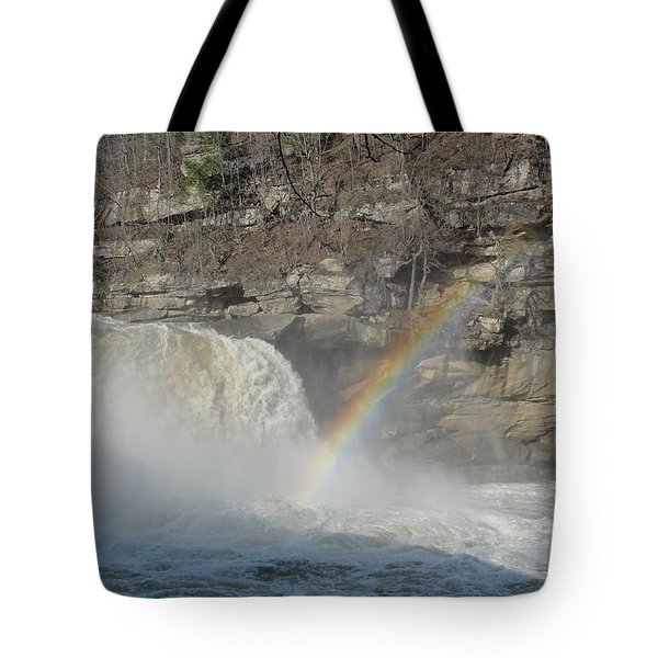 Tote Bag featuring the photograph Cumberland Falls by Tiffany Erdman