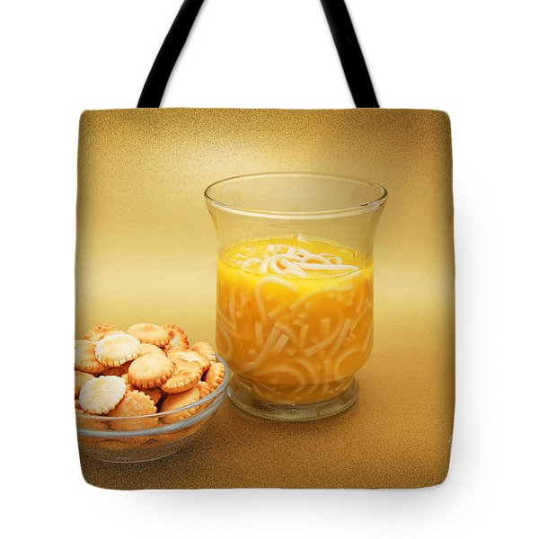 Cup O Soup And Oyster Crackers Tote Bag by Andee Design