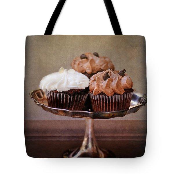 Cupcake Trio Tote Bag by Jai Johnson