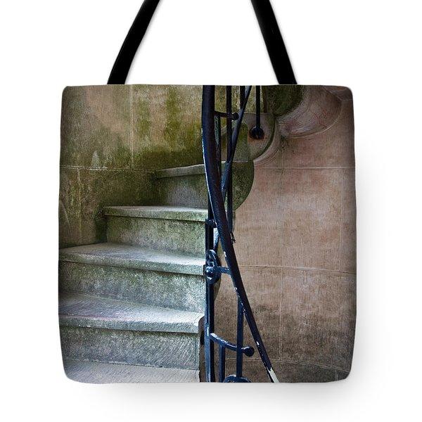Curly Stairway Tote Bag by Carlos Caetano
