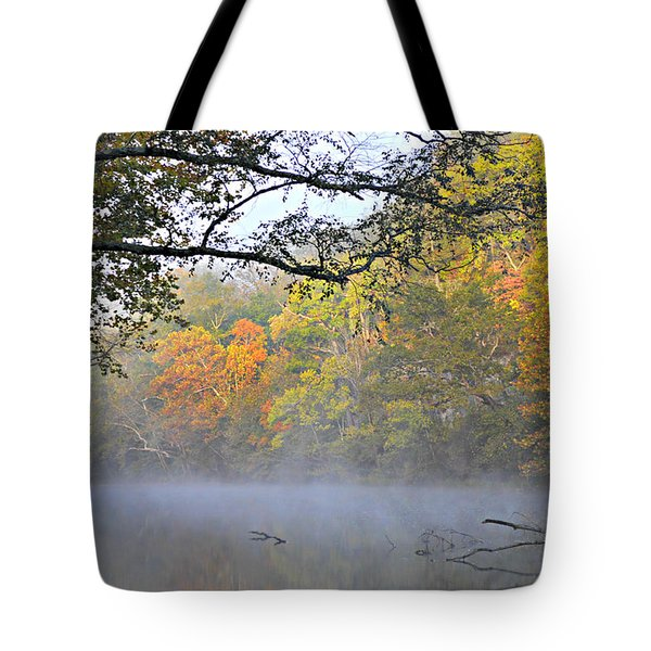 Current River Fall 44r Tote Bag by Marty Koch