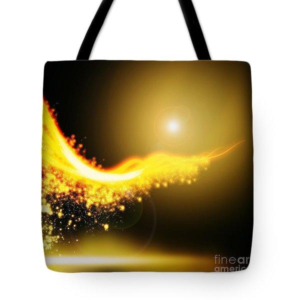 Curved  Lighting  Tote Bag by Setsiri Silapasuwanchai