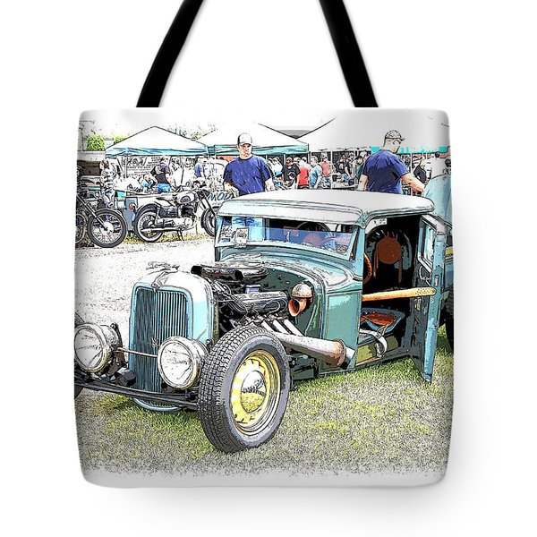 Custom 32 Ford Pickup Tote Bag by Steve McKinzie