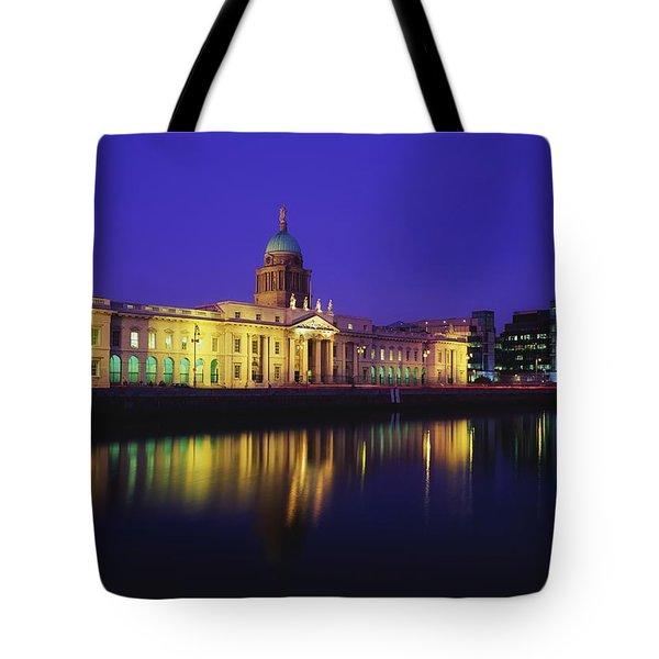 Custom House, Dublin, Co Dublin Tote Bag by The Irish Image Collection
