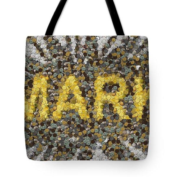 Custom Mark Mosaic Coins Tote Bag by Paul Van Scott