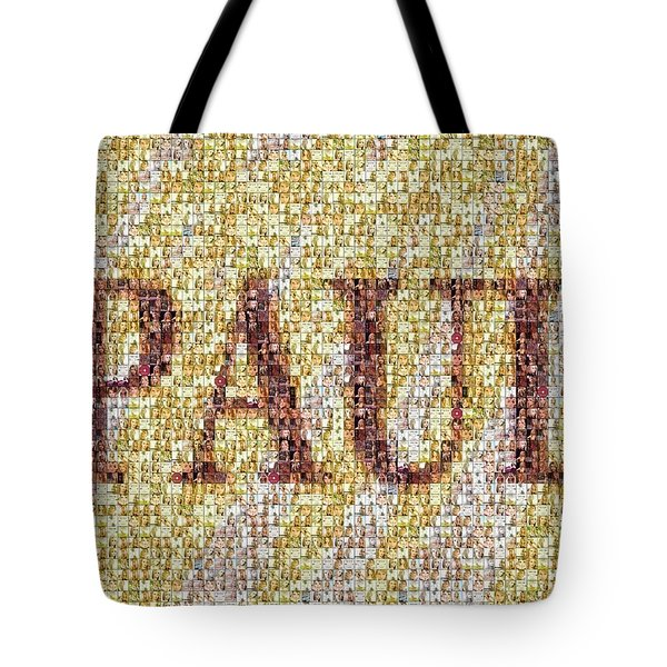 Custom Paul Mosaic Taylor Swift Tote Bag by Paul Van Scott
