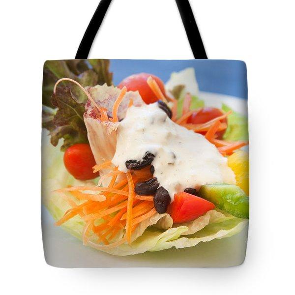 Cute Salad Tote Bag by Atiketta Sangasaeng