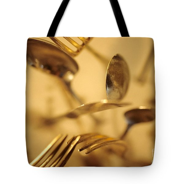 Cutlery Vortex Tote Bag by Bruce Stanfield