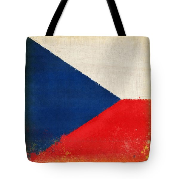 Czech Republic Flag Tote Bag by Setsiri Silapasuwanchai