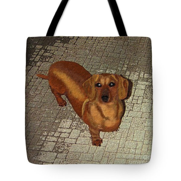 Dachshund - Cinnamon Tote Bag by L J Oakes