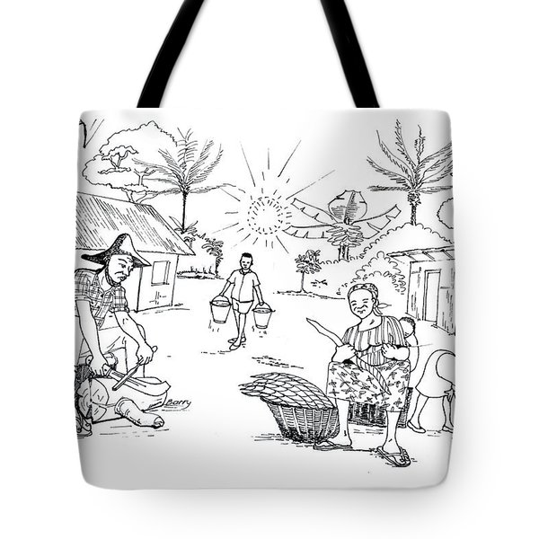 Daily Life In South And Center Cameroon 03 Tote Bag