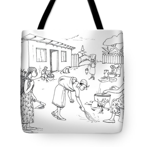 Daily Life In South And Center Cameroon 10 Tote Bag