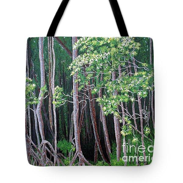 Daintree Forest At Twilight Tote Bag by Tatjana Popovska