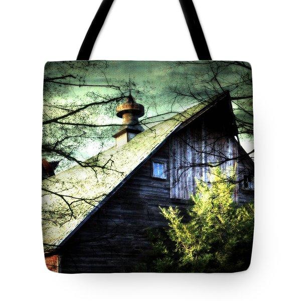 Dairy Barn Tote Bag by Julie Hamilton