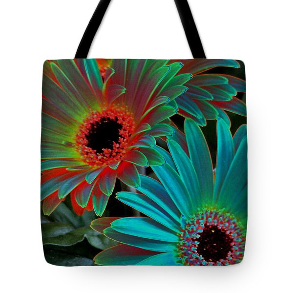 Daisies From Another Dimension Tote Bag by Rory Sagner