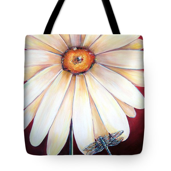 Daisy Dragonfly Tote Bag