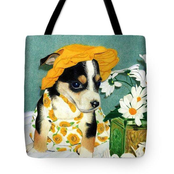 Daisy-mae Dawg Tote Bag by Ana Tirolese