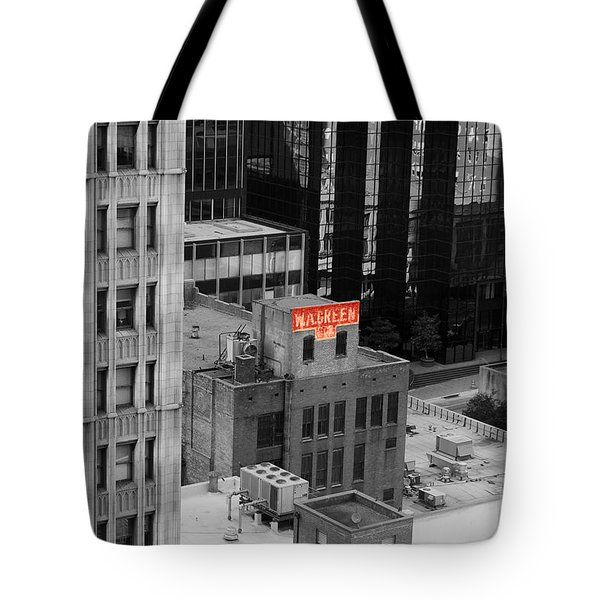 Tote Bag featuring the photograph Dallas Texas Red Color Splash Black And White by Shawn O'Brien