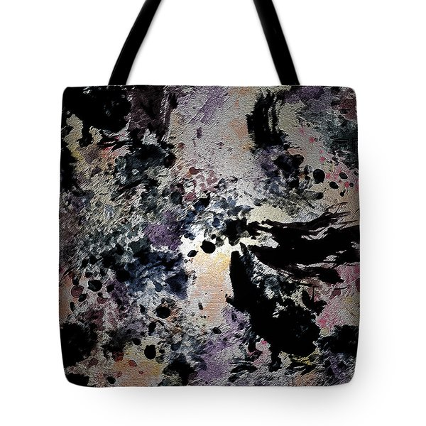 Damask Tapestry Tote Bag by Paula Ayers